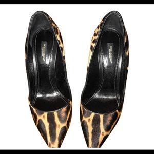 Dolce & Gabbana leopard print pumps